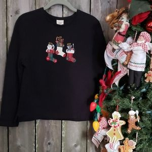 Quilted KITTENS CHRISTMAS SWEATER